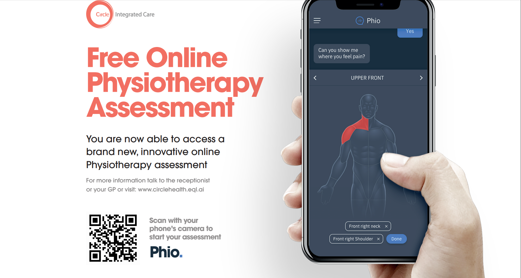 Phio; free physio assessment